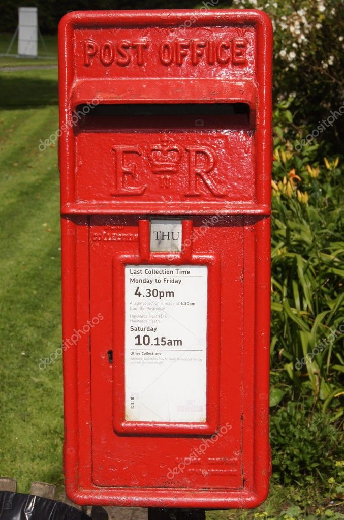 Englische Dorf Briefkasten Stockfoto Vmorfield 11745296