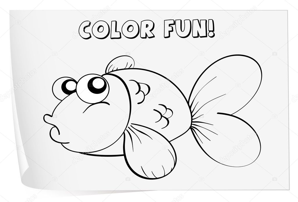 Coloring worksheet — Stock Vector © interactimages #10804048