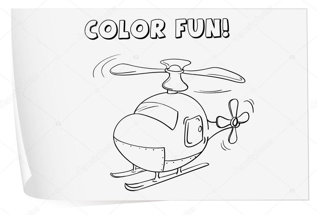 hoja para colorear — Vector de stock © interactimages #10804065