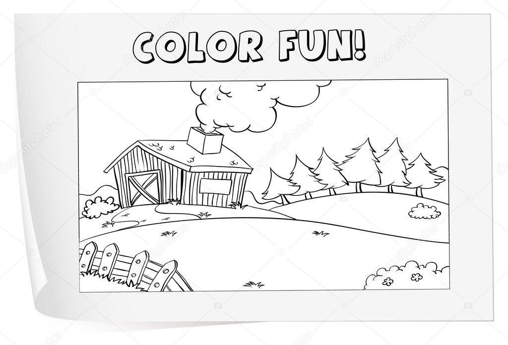 hoja para colorear — Archivo Imágenes Vectoriales © interactimages ...