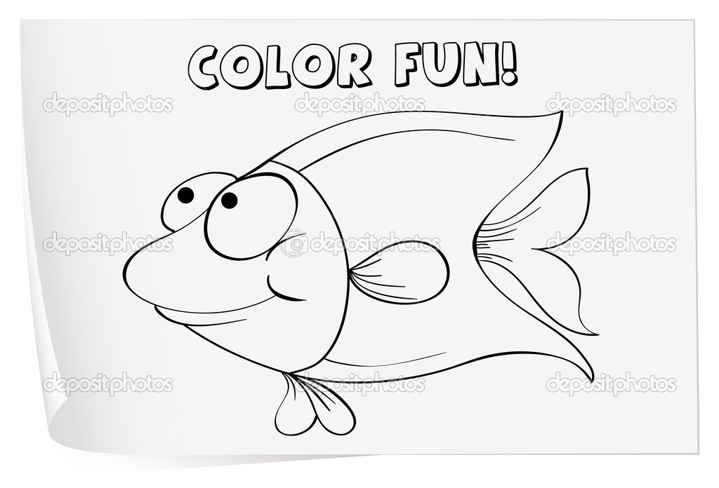 hoja para colorear — Vector de stock © interactimages #10804095
