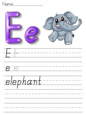 Alphabet handwriting series