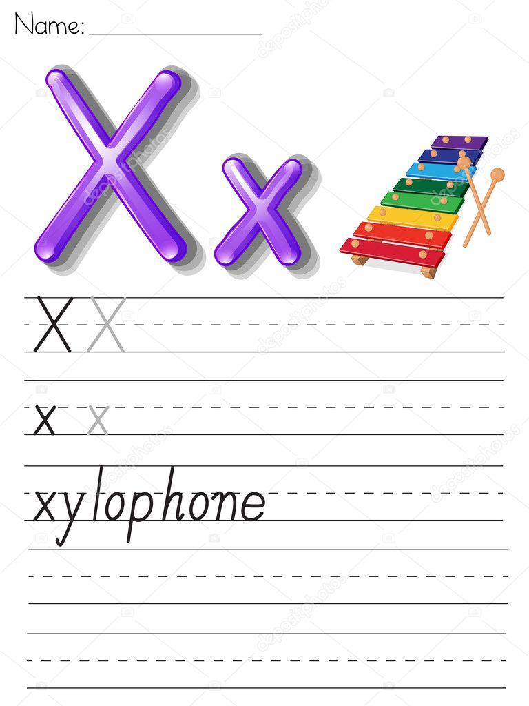 Alphabet Handschrift Serie — Stockvektor © interactimages #10862321