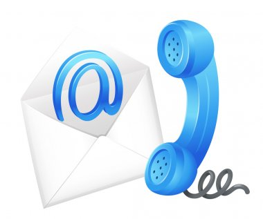 Illustration of an email icon stock vector