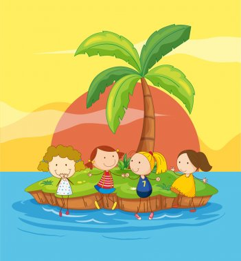 Kids on an island