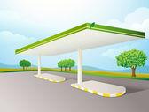 Fotografie leere Benzin Pumpe Schatten
