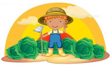 boy working in farms