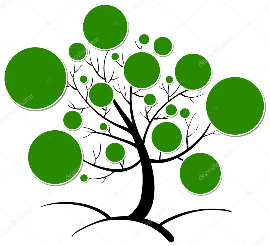 tree clipart stock vector interactimages 12140408 rh depositphotos com vector trees outline vector tree images