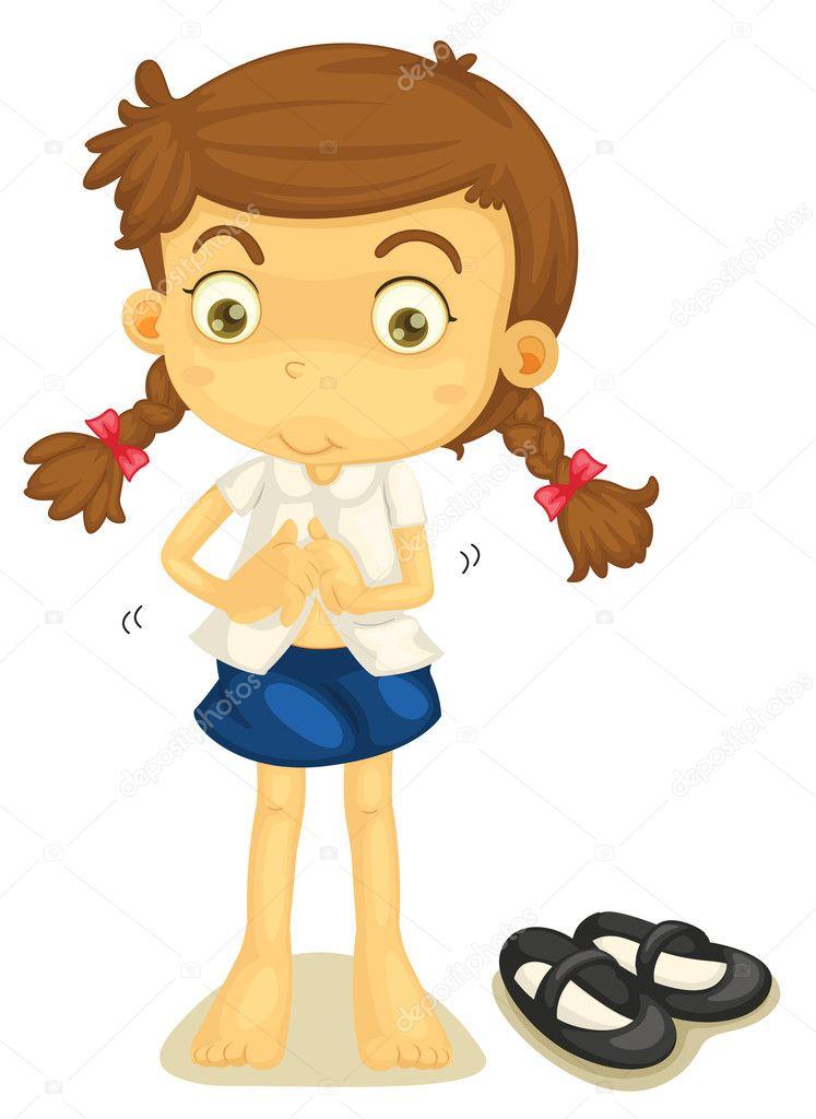 Chica joven cambiandose de ropa en un tren - 2 part 5