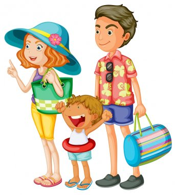 Illustration of an isolated family clip art vector