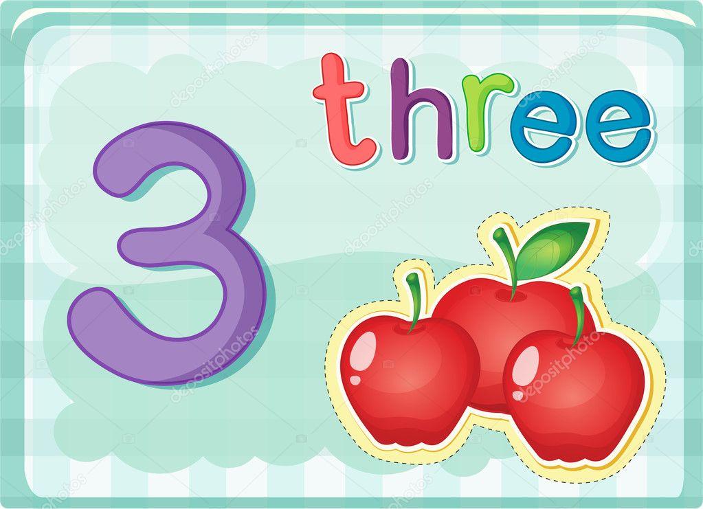 Stock Illustration Number Cards on Number Cards 1 5