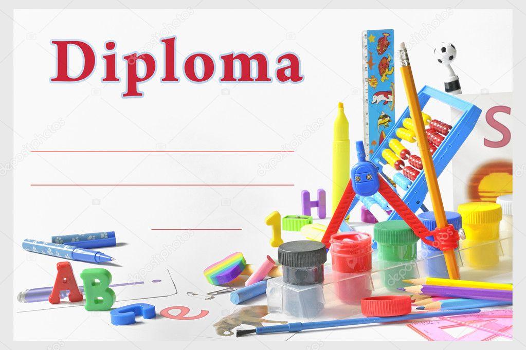 diplomas para editar preescolar diploma de preescolar foto de