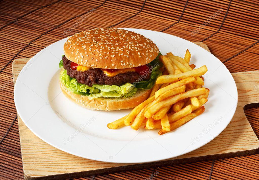 Hamburguesa gourmet hechos a mano foto de stock for Cama hamburguesa