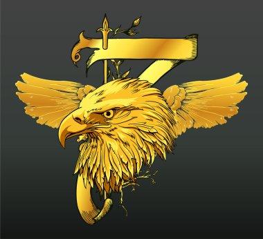 Vintage gold emblem