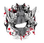 Temné gothic t-shirt design