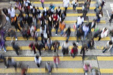 Street Crossing in Hong Kong
