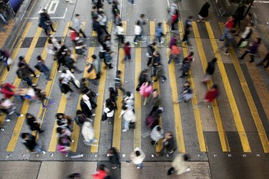 Street Crossing in Hong Kong