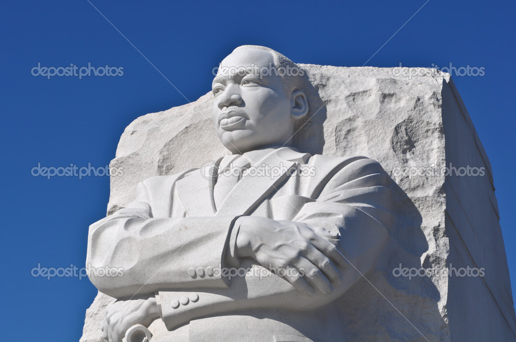 Martin Luther King Statue Monument In Washington Dc Stock
