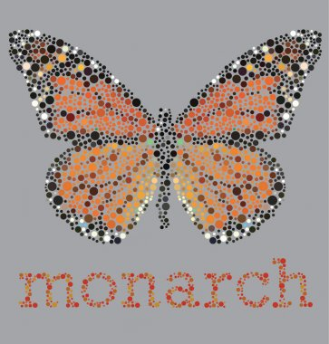 Monarch Butterfly With Color Blind Effect