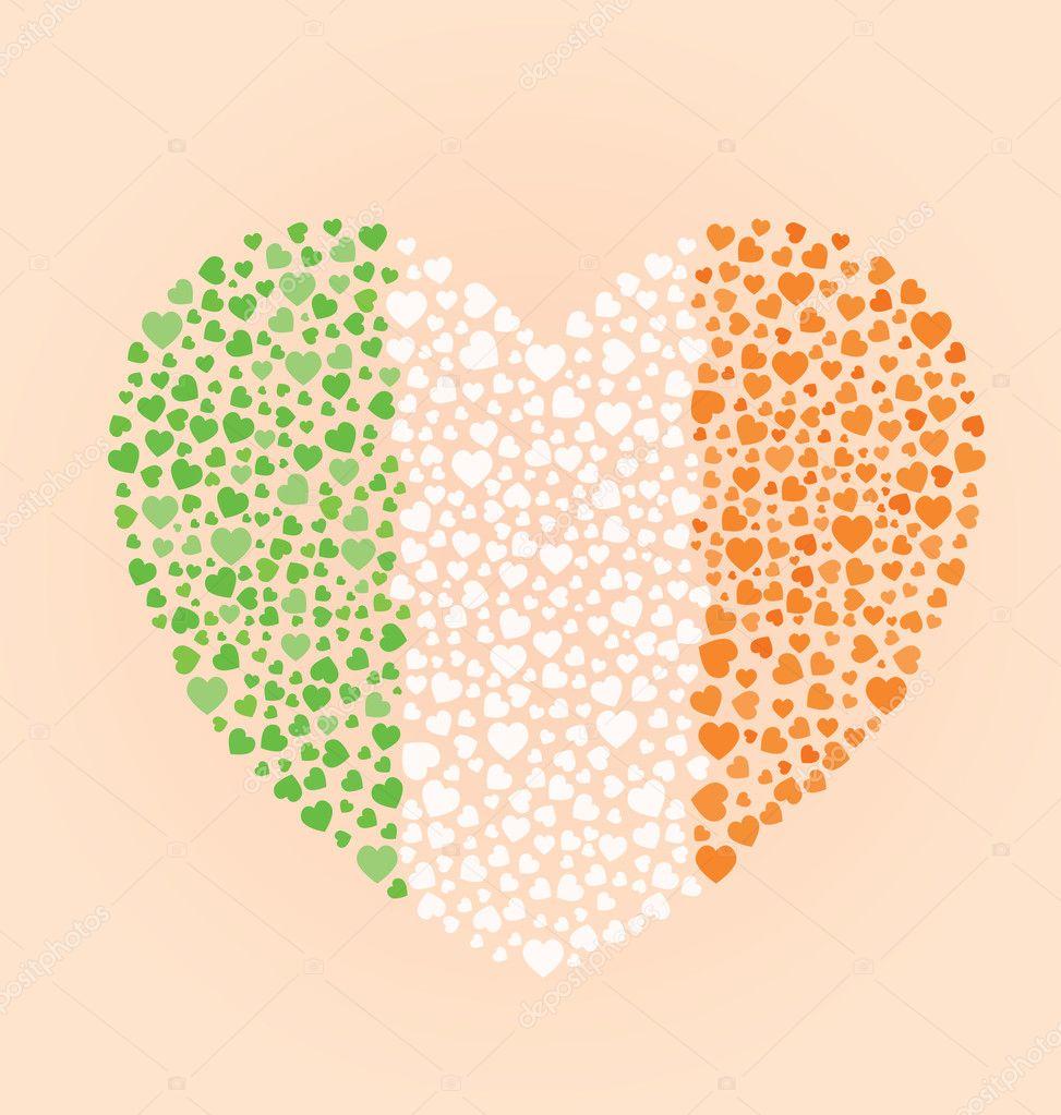 irish flag heart u2014 stock vector vreddane 10908774