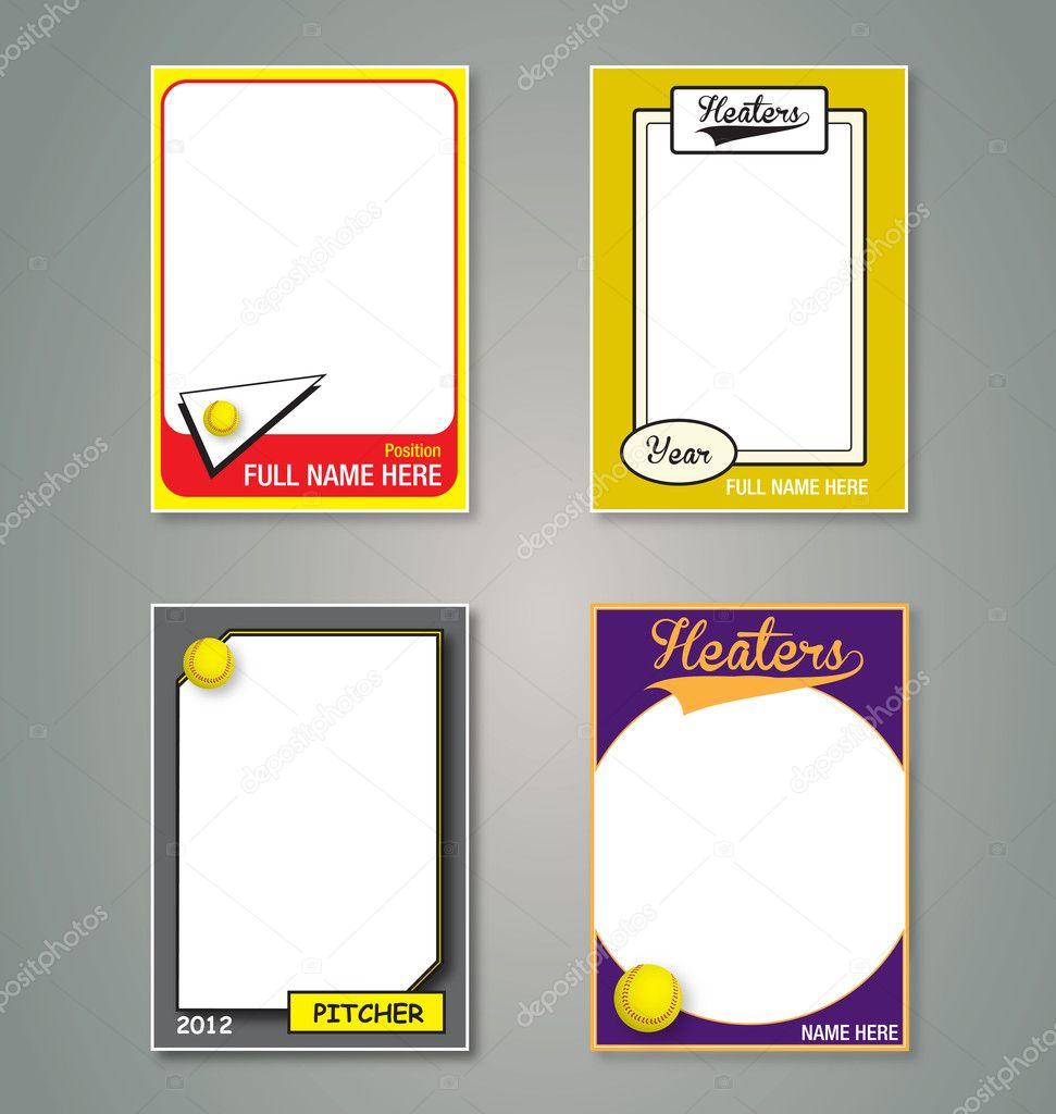 Softball Trading Card Picture Frames — Stock Vector © vreddane #10908905