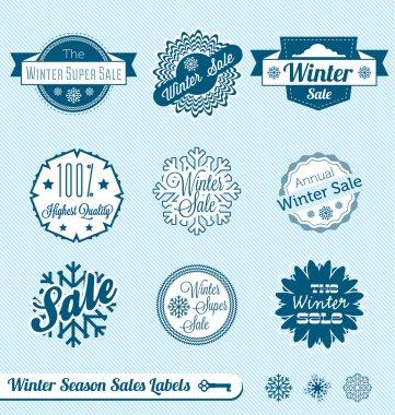 Vector Set: Winter Sale Shopping Labels