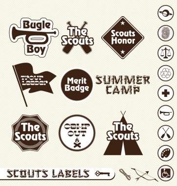 Vector Set: Boy Scouts Merit Badge Labels