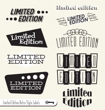 Vector Set: Limited Edition Signs Banners Labels