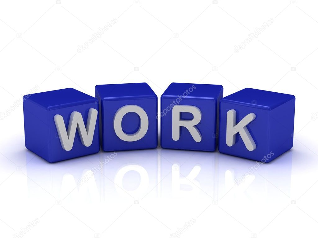 work word on blue cubes stock photo naraytrace 12328170