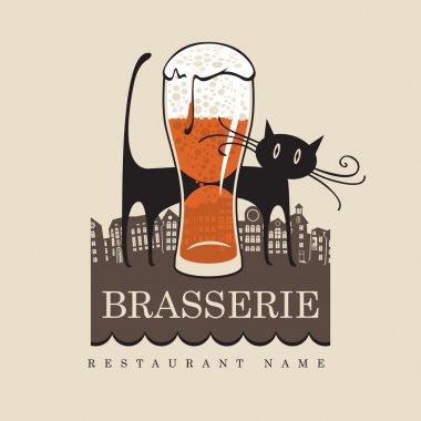 Beer with cat