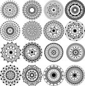 Photo A set of beautiful mandalas and lace circles