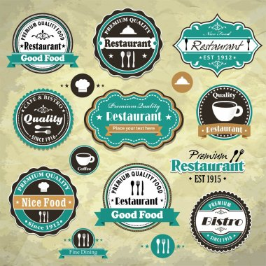Vintage frame with food restaurant template clip art vector