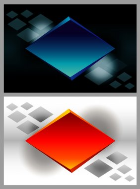 Abstract blue and red rhombus