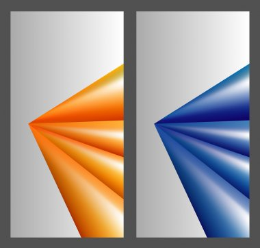 Abstract orange and blue background for design