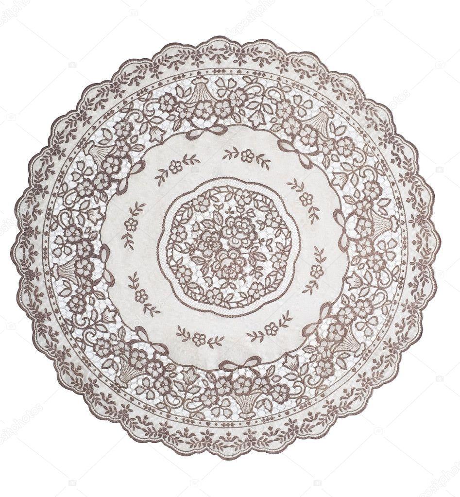 mantel para mesa redonda — Fotos de Stock © nik7ch #12343952