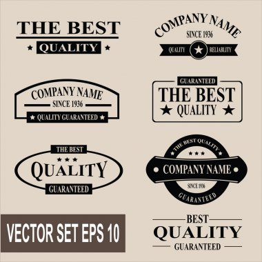 Vector set of vintage labels and banners
