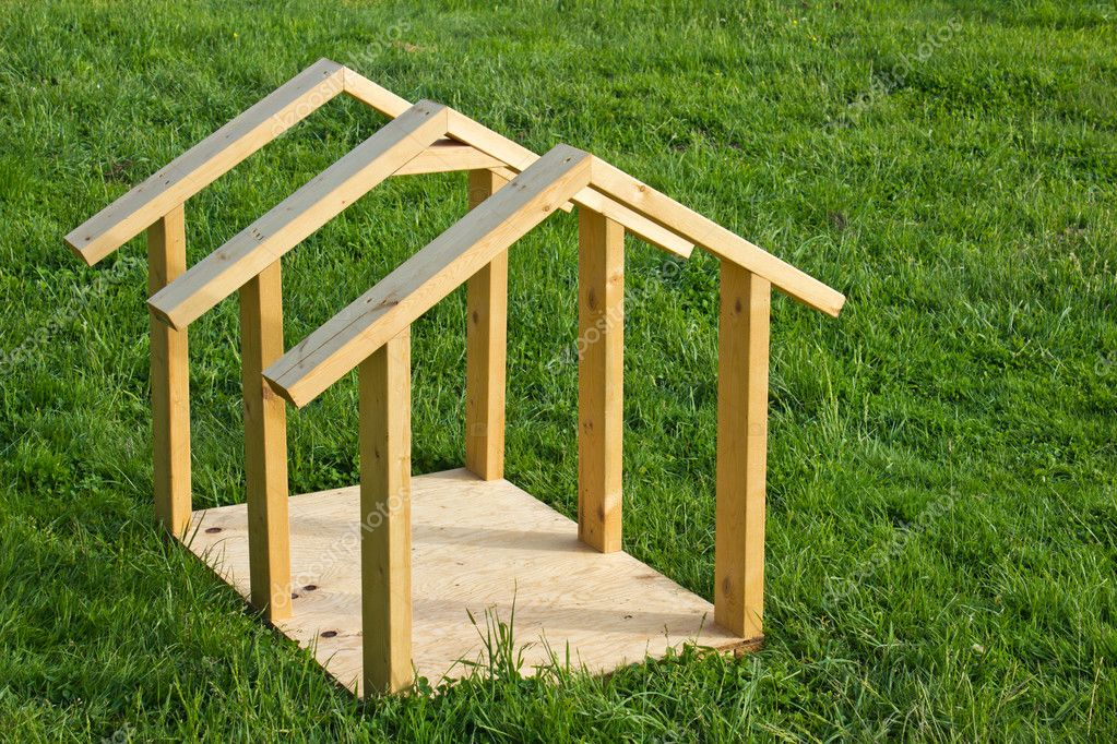 Dog House Wood Frame Stock Photo C Nbiebach 10841053 - Dog-house-frame
