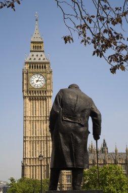 London - Winston Churchill memorial and Big Ben