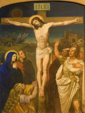 Christ on the cross from Vienna chruch Kirche am Hof