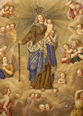 Milan - Virgin Mary - scapular - detail from old flag