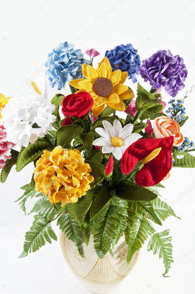 Gehäkelte Blumen — Stockfoto © motorino125 #11099064