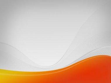 Light gray wavelet background Dizzy-HF, yellow-orange wave space
