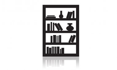 Library Icon, furniture icon, office, house, interior object