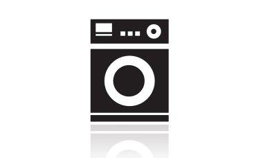 Washing machines icon, domestic appliances, laundry