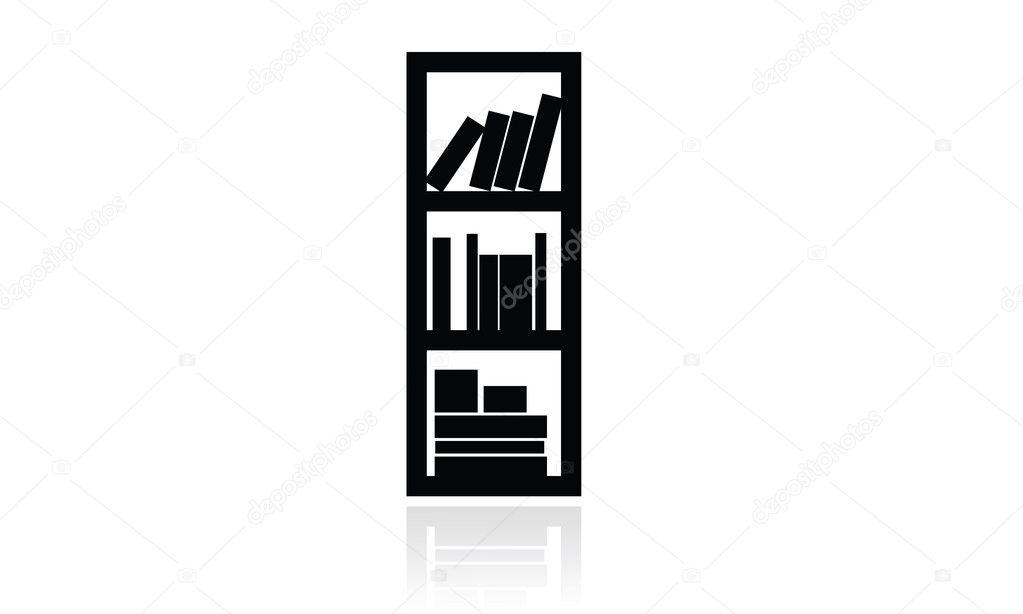 Icona libreria icona mobili ufficio casa oggetti for Stock mobili ufficio