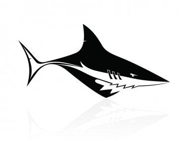 The vector image of a shark - logo,sign,vector,icon