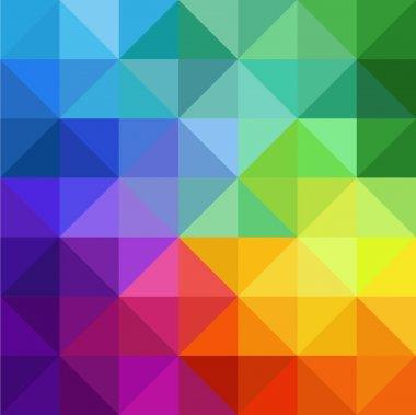 Multicolor triangular background Triangelis