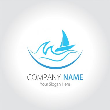 Company (Business) Logo Design, Vector, Sea and Sailing Ship