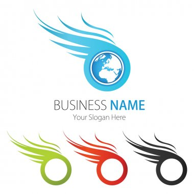 Company (Business) Logo Design, Vector, Wings, Earth