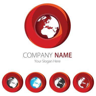 Company (Business) Logo Design, Vector, Circle, Earth